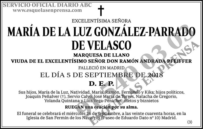 María de la Luz González-Parrado de Velasco